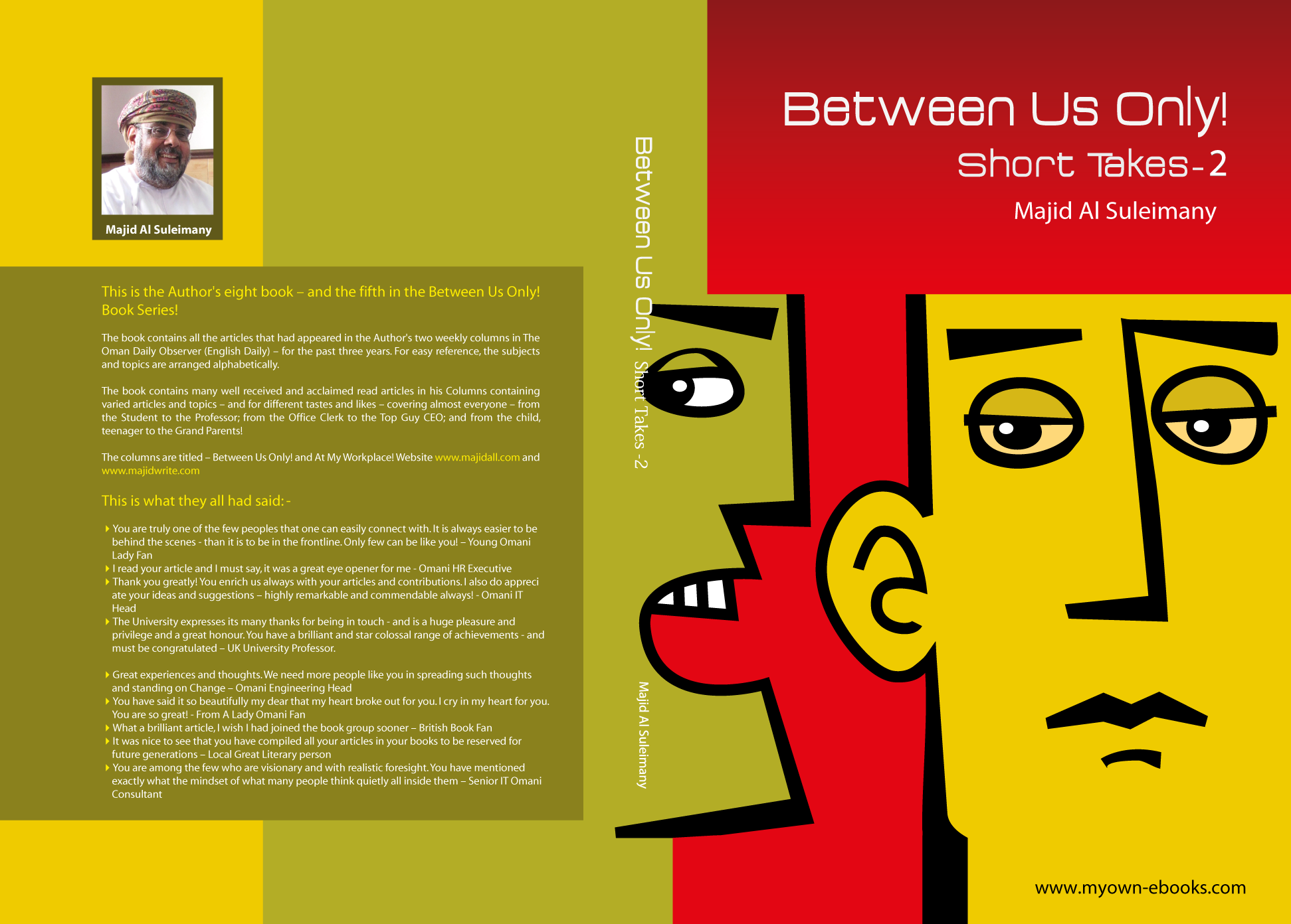 Paperback Book Cover : Title between us only short takes two my majid