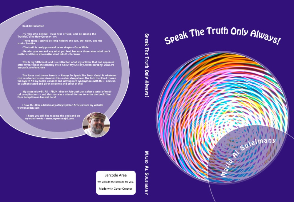 My 34th New Book! Speak The Truth Only Always! (1/2)